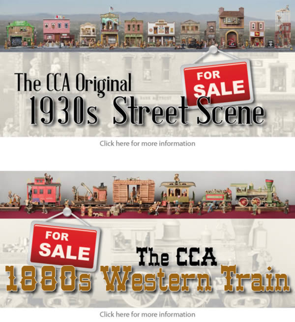 CCA 1930s Street Scene and 1880s Western Train Sales