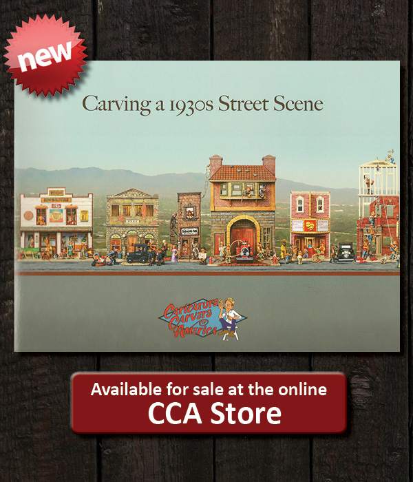 Carving a 1930s Street Scene book